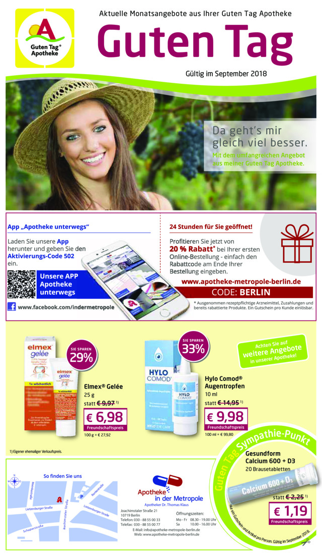 Angebotsflyer September 2018